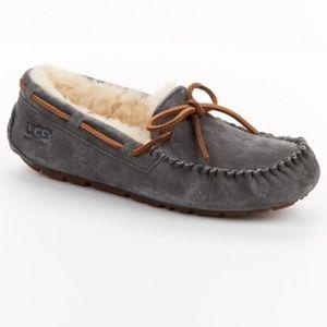 UGG Dakota moccasin slippers pewter gray wool